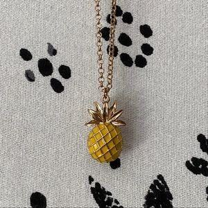 Jewelry - Enamel pineapple pendant necklace